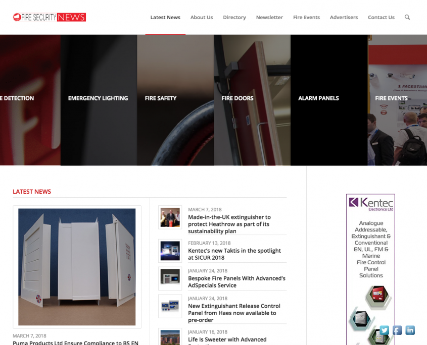 1st Fire Security News website by 1st 4 Media Ltd