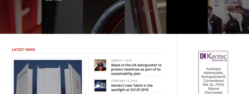 1st Fire Security News Website Redesign