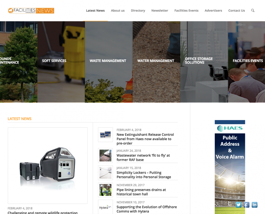 1st Facilties Management News Website