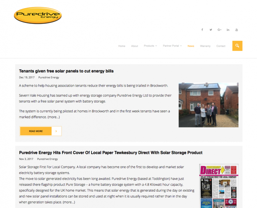 Puredrive Energy Ltd News Page created by 1st 4 Media