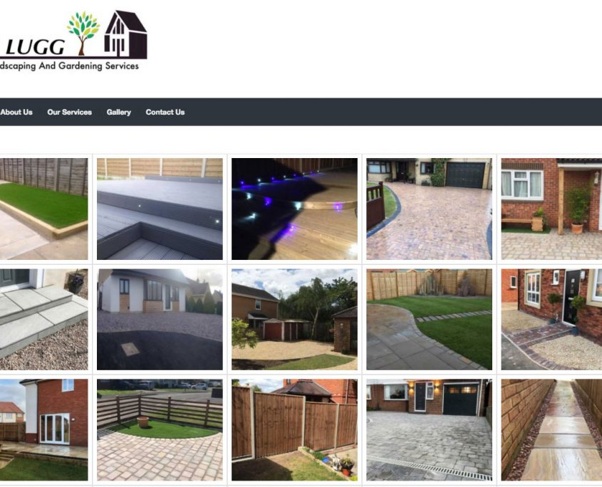 R Lugg Website design image gallery