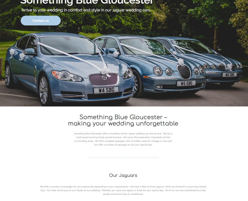 Something Blue Gloucester Website Design by 1st 4 Media